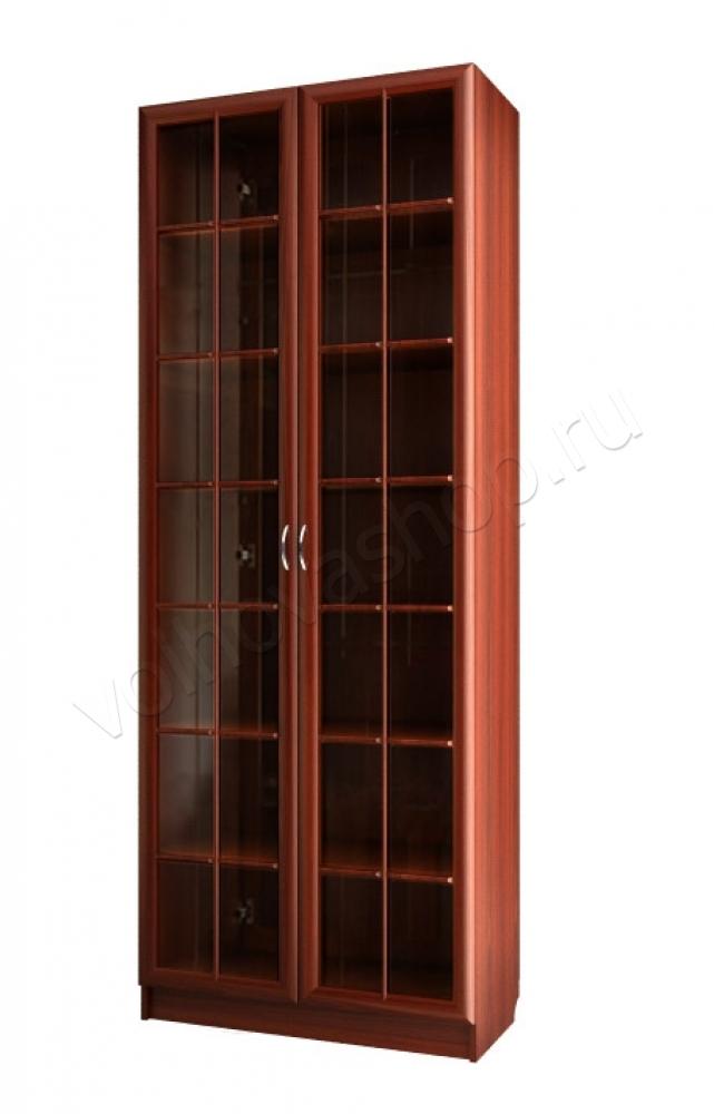 Шкаф для книг со стеклом с 406/1 м мебель волхова.
